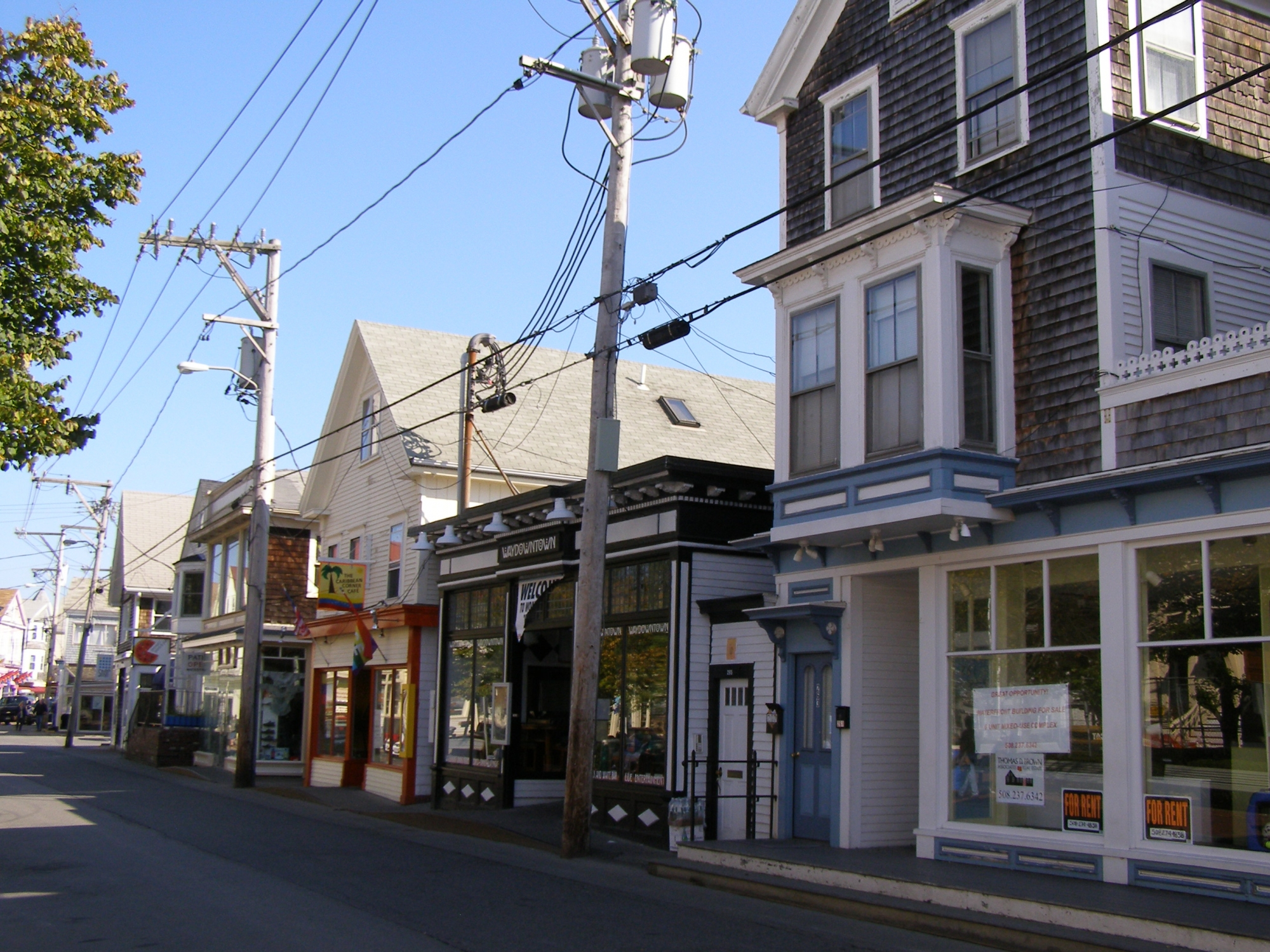 Cape Cod Downtown Street with Shops